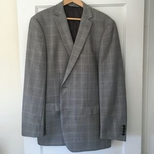 Marc Jacobs Gray Checkered Two Buttons Men Blazer
